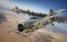 Grumman Martlet Mk IV vs Curtiss Hawk H-75A-3 Vichy Air Force, Operation Torch, North Africa, November 1942. Digital Art by Adam Tooby
