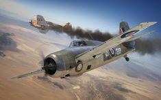 Grumman Martlet Mk IV vs Curtiss Hawk H-75A-3 Vichy Air Force, Operation Torch, North Africa, November 1942. Digital Art by Adam Tooby