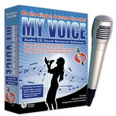 MyVoice hides the vocals on your audio CDs so you can turn your MP3 collection into an instant karaoke system. You can also transpose the key and/or alter the tempo. Sounds so fun! :)