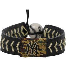 New York Yankees Camouflage Baseball Bracelet