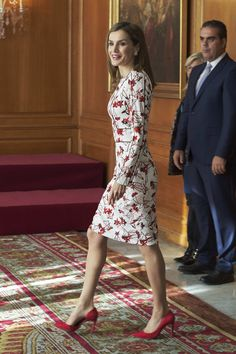 King Felipe& Queen Letizia attended several audiences during the Princess of Asturias awards 2016 at the Reconquista Hotel in Oviedo