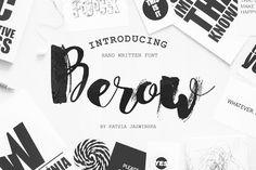 Berow Grunge Script by Katsia Jazwinska on @creativemarket