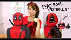 DEADPOOL CAKE STEP BY STEP TUTORIAL!