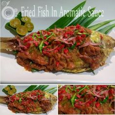 A crispy fish topped with a spicy, sweet & sour sauce to serve with rice