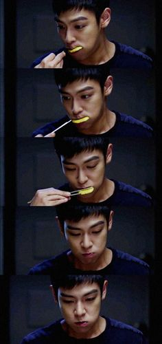 He's just cute n sexy no matter what <3 | T.O.P (Looks like a prince, eats like a dog^.^)