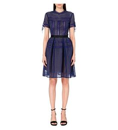 SELF-PORTRAIT Aurelia lace dress (Cobalt