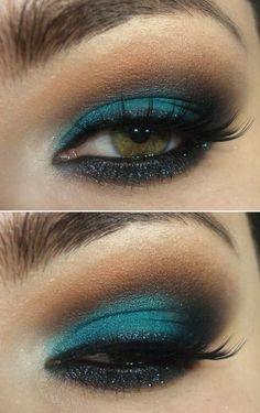 Makeup com sombra oceano e cor de laranja - Fotoplot - Photosets Done Right