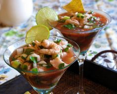 Mexican Ceviche - For the seafood, I would just use shrimp probably 2 lbs. Also, the kind I tried had a chunk of mango in it that added a subtle but tasty sweetness.