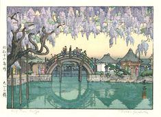 Half Moon Bridge, c. 1941, Toshi Yoshida (1911-1995) Woodblock