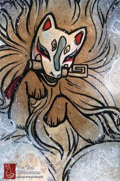 Ghost Fox / Fox Demon Yokai Foxfire
