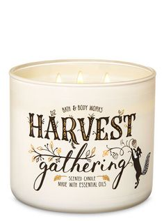 Harvest Gathering Candle by Bath & Body Works Bath Candles, 3 Wick Candles, Scented Candles, Candle Jars, Bath N Body Works, Bath And Body, Fall Scents, Happy Fall Y'all, Candle Making