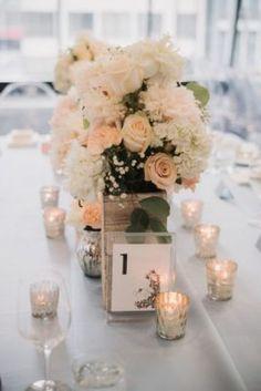 Blush Floral Wedding Reception Centerpiece