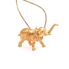 Elephant Necklace Gold Plate, $125, now featured on Fab.