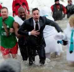 Jimmy doing the Polar Plunge! He's so great and selfless! ❤️