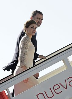 Queens & Princesses - King Felipe and Queen Letizia departing from Madrid, in route   for a three-day state visit to France.