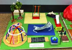 Playground Project in Geometry - Using Area and Perimeter - Mrs. E Teaches Math http://mrseteachesmath.blogspot.com