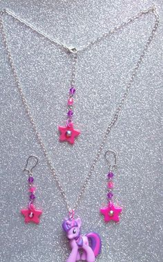 Twilight Sparkle Necklace and Earrings Set