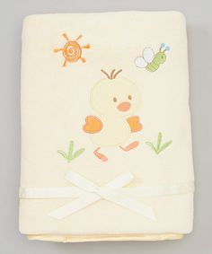 This Yellow Duckling Blanket is perfect! #zulilyfinds