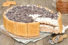 Torta fredda di biscotti mascarpone e Nutella - Dolce cremoso