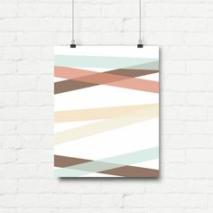 """Printable Art Abstract Graphic Poster """"Multicolored Stripes"""" Print Instant Download Digital Download1"""