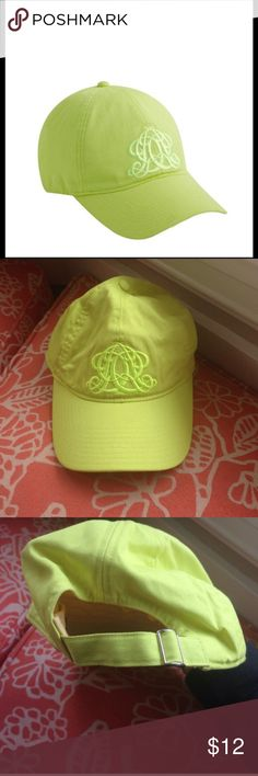J. Crew Cap Adorable J Crew ball cap. Cute neon green w/lovely embroidery. Excellent condition J. Crew Accessories Hats