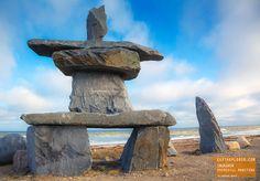 Inukshuk in Churchill Manitoba Canada