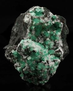 Smithsonite (var. Cuprian) with dolomite. Source: Tsumeb Mine, Tsumeb, Otjikoto Region, Namibia.