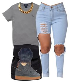 """Sylvie Finesse"" by trillest-fashion ❤ liked on Polyvore featuring Ralph Lauren and NIKE"