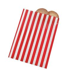 Red Striped Treat Bags - OrientalTrading.com