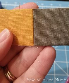 An invisible alternative to ladder and whip stitch when English paper piecing