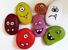 looks like fun Pebble Painting, Pebble Art, Stone Painting, Diy Painting, Rock Crafts, Diy And Crafts, Arts And Crafts, Diy For Kids, Crafts For Kids