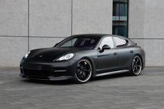 Matte Black Porsche Panamera