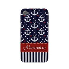 Anchor iPhone case! OMG...I want!    well instead of Alexandra im putting Carleigh---duuuh
