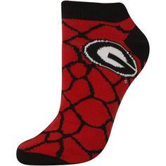 Georgia Bulldogs Women's Giraffe Print Ankle Socks – Red