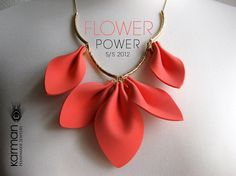 Flower Power. Magnificent statement necklace on gold chain. Beautiful statement necklace for Spring and Summer 2012 by Karman Jewelry.