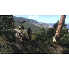 ARMA 3 / ArmA III (PC): Altis & Stratis - Defeat your enemy on richly detailed battlefields – stretching over 290 km² of Mediterranean island terrain.  Solo & Multiplayer - Experience military gameplay by completing the singleplayer showcase missions. Run through the competitive firing drills to hone your shooting and movement skills. Click the image to read more..