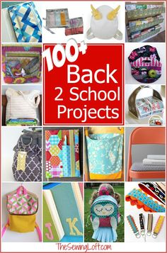 100+ Back to School  Must Make Projects. Most of these patterns are easy to sew for any skill level. The Sewing Loft