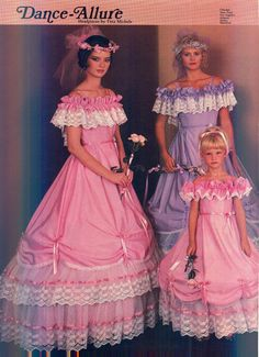 I think all 80's dresses had hoop slips underneath them! 1984