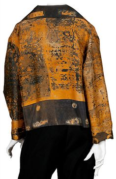 Wearable Art Jacket | painted fabric