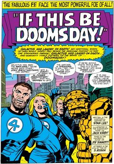 Fantastic Four #49 splash page