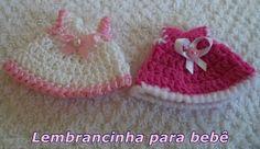 Diy - Lembrancinha em Crochê Nº 1 para bebê - Vestidinho - Graça Tristão
