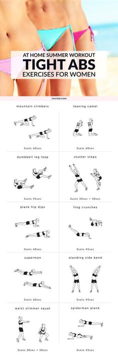 Abs - Get a flat, toned stomach and snap into shape with this bikini body tight tummy workout. 10 core-strengthening moves to help you sculpt sexy curves and say goodbye to shapewear for good. Slim, strong tummy here we come! Fitness Workouts, Sport Fitness, Fun Workouts, At Home Workouts, Fitness Motivation, Exercise Motivation, Body Workouts, Fitness Goals, Insanity Fitness
