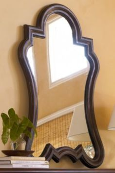 Arabesque Mirror from Soft Surroundings -- guest bathroom