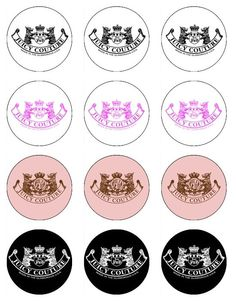 JUICY+COUTURE+Edible+Cupcake+Toppers+12+edible+by+ABCedibleimages,+$5.99