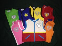 paw patrol inspired vests by Snugglebugaboo on Etsy