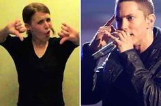 """This Woman's Amazing Sign Language Version Of """"Lose Yourself"""" Is On Fire"""
