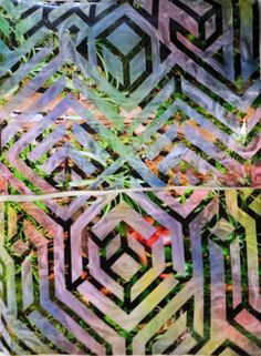 Psychedelic Visionary Urban Trippy Abstract Artwork Mixed Media Painting by HellP Art 2013