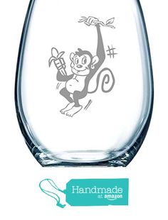 cc48d36977e9 Monkey stemless wine glass
