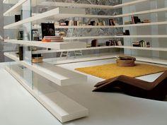AIR Open bookcase by Lago design Daniele Lago