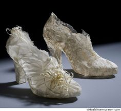 Ayse's wedding | virtualshoemuseum.com by Demirkan  Ayse(the name of the girl) fled to her lover with this shoe...